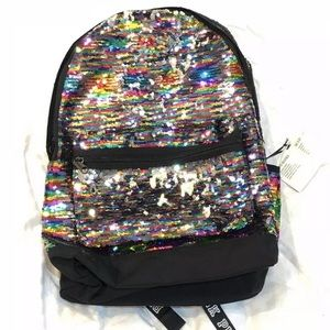VS Pink NWT flip sequins Campus backpack full size